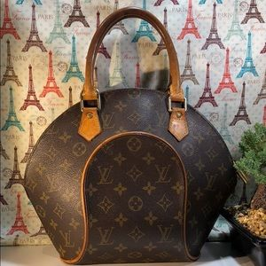 Auth Louis Vuitton Monogram Ellipse MM Satchel